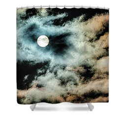 Moody Orb Shower Curtain