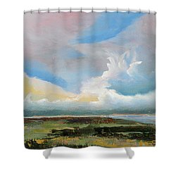 Moody Skies Shower Curtain by Trina Teele
