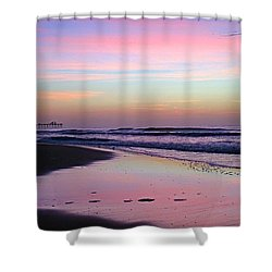Moody Sunrise Shower Curtain by Betty Buller Whitehead