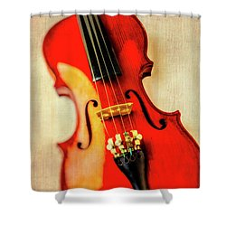 Moody Violin Shower Curtain by Garry Gay
