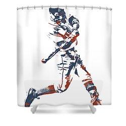 Mookie Betts Boston Red Sox Pixel Art 11 Shower Curtain