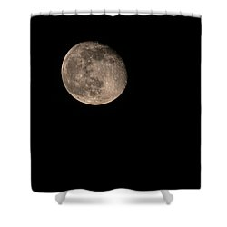 Shower Curtain featuring the photograph Moon 4-13-2017 by Thomas Young