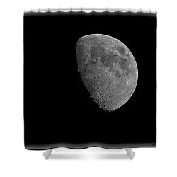 Shower Curtain featuring the photograph Moon 67 Percent Fr23 by Mark Myhaver
