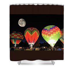 Moon And Balloons Shower Curtain