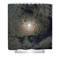 Moon And Clouds Shower Curtain