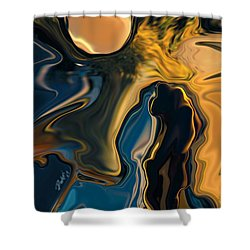 Moon And Fiance Shower Curtain