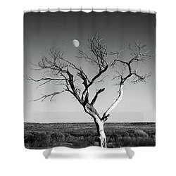 Moon And Memory At Bosque Del Apache N M Shower Curtain