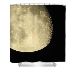 Moon And Plane Over Sanibel Shower Curtain