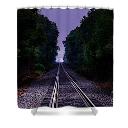 Moon And Steel Shower Curtain