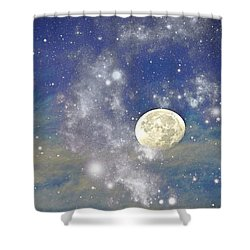 Moon And The Stars Shower Curtain