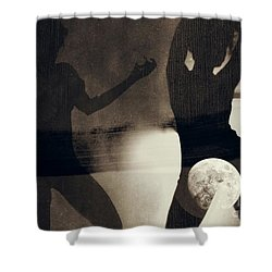 Moon And Then Shower Curtain