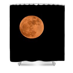 Shower Curtain featuring the photograph Moon Before Yule  by Bradford Martin