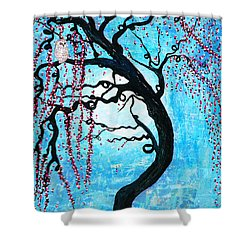 Moon Blossoms Shower Curtain by Natalie Briney