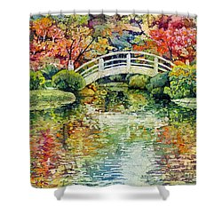 Moon Bridge Shower Curtain
