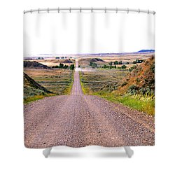 Moon Creek Heavy Traffic Shower Curtain by Aliceann Carlton
