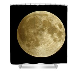 Moon During Eclipse Shower Curtain