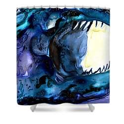 Moon Eater Dragon Lunar Eclipse Shower Curtain