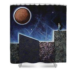 Moon Eclipse Shower Curtain