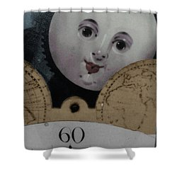 Moon Face Shower Curtain