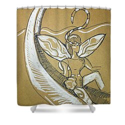 Moon Fairy Shower Curtain