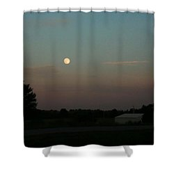 Moon Glow Shower Curtain by Ellen O'Reilly