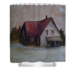 Moon House Shower Curtain