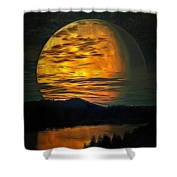 Moon In Ambiance Shower Curtain
