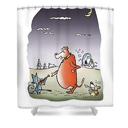 Moon Jump Shower Curtain