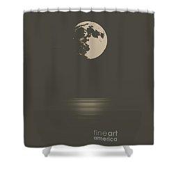 Moon Light Shower Curtain by Roger Lighterness
