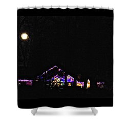 Moon Lights Shower Curtain