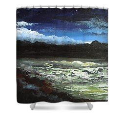 Moon Lit Sea Shower Curtain