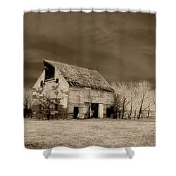 Moon Lit Sepia Shower Curtain