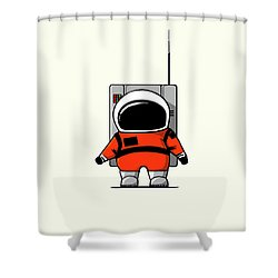 Moon Man Shower Curtain by Nicholas Ely