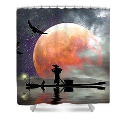 Moon Mist Shower Curtain