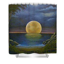 Moon Of My Dreams II Shower Curtain by Sheri Keith