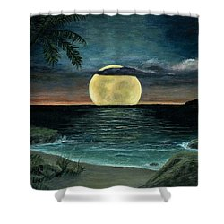 Moon Of My Dreams IIi Shower Curtain by Sheri Keith
