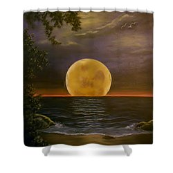 Moon Of My Dreams Shower Curtain by Sheri Keith
