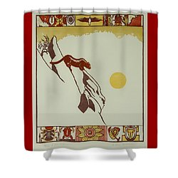 Moon Of Red Chokecherries Shower Curtain by Dawn Senior-Trask
