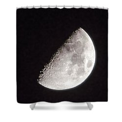 Moon On Day 7 Shower Curtain