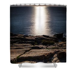 Moon Over Acadia Shores Shower Curtain