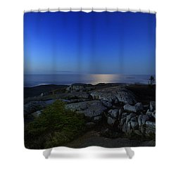 Moon Over Cadillac Shower Curtain by Rick Berk