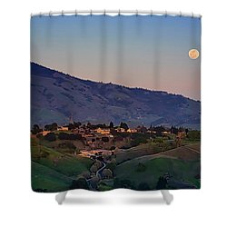 Moon Over Diablo Shower Curtain