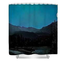 Moon Over Field Bc Shower Curtain