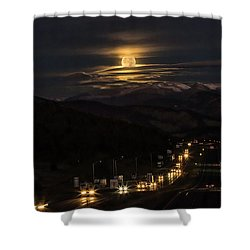 Moon Over Genessee Shower Curtain