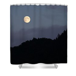 Moon Over Hill Shower Curtain