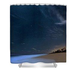 Moon Over Hobe Sound Beach Florida  Shower Curtain