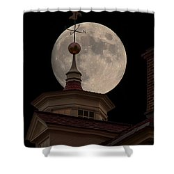 Moon Over Mount Vernon Shower Curtain by Ed Clark