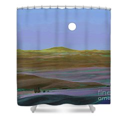 Moon Over Mountain 2 Shower Curtain