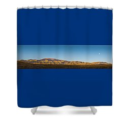 Moon Over Pintada Mountain At Sunrise In The San Juan Mountains, Shower Curtain