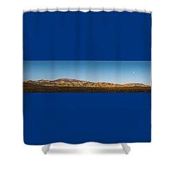 Moon Over Pintada Mountain At Sunrise In The San Juan Mountains, Shower Curtain
